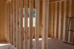 Framework house - under construction. Stock Image