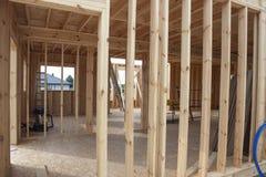 Framework house - under construction. Stock Photography