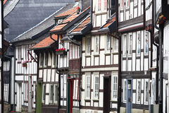Framework houses. In the old town of Goslar, Lower Saxony, Germany, UNESCO World Heritage Site Royalty Free Stock Photo