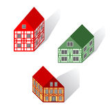 Framework houses set Stock Photo
