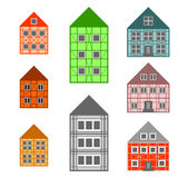 Framework houses set Stock Photography