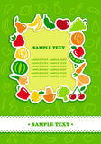 Framework from fruit and vegetables Stock Photo