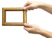 Framework In Hands Stock Photography