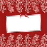 Framework for invitation. On a beautiful lace background Royalty Free Stock Image