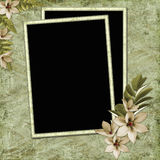 Framework for invitations. On the vintage background Royalty Free Stock Photography