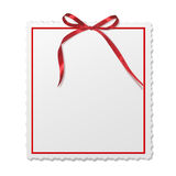 Framework for invitations. A red bow. Royalty Free Stock Photo