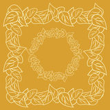 Framework from leaves Royalty Free Stock Photos