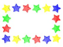 Framework from multi-coloured stars Royalty Free Stock Images