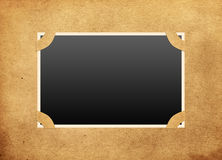 Framework on old photo album. Vector photo framework on old, aged background paper Royalty Free Stock Photography