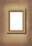 Framework on old wallpaper. Stock Image
