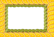 Oranges and kiwi. Framework of oranges and kiwi stock photo