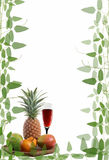 Framework paper with leaves and fruit Stock Image