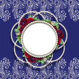 Framework for a photo. On a beautiful lace background Royalty Free Stock Photos