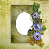 Framework for photo. On the abstract background with bunch of flowers Royalty Free Stock Photos