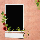 Framework for photo or congratulation. In scrapbooking style Stock Image