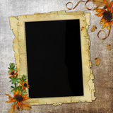Framework for photo or congratulation. In scrapbooking style Stock Photography