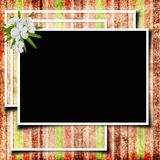 Framework for photo or congratulation. In scrap-booking style Royalty Free Stock Image