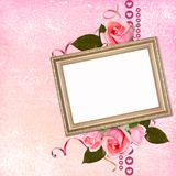 Framework for photo or congratulation. Framework for photo or congratulation in scrap-booking style Royalty Free Stock Image
