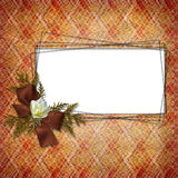 Framework for a photo or congratulation. Stock Image