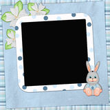 Framework for photo or congratulation with bunny Royalty Free Stock Image