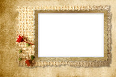 Framework for photo with flowers Royalty Free Stock Photography