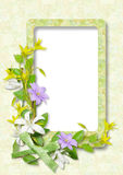 Framework for photo with flowers Royalty Free Stock Images