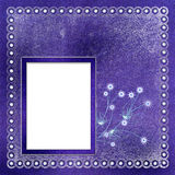 Framework for photo or invitation. On abstract winter background Royalty Free Stock Image