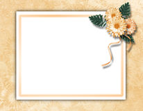 Framework for photo or invitation. On the vintage background Royalty Free Stock Image