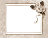 Framework for photo or invitation. On the vintage background Royalty Free Stock Photo