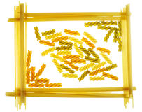 Framework for a photo, made of pasta Royalty Free Stock Photos