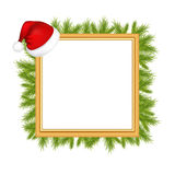 Framework For Photo With Santa Claus Hat. Vector Stock Images