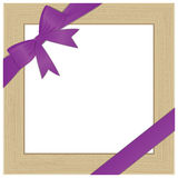Framework for photo with violet bow. eps10 Stock Photography