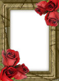 Framework for photos. With musical notes and roses royalty free stock image
