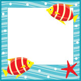 Framework for photos. Sea theme. Fishes. Royalty Free Stock Photo