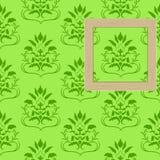 Framework for photos on wallpaper Royalty Free Stock Photo