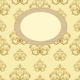 Framework for photos on wallpaper Stock Images