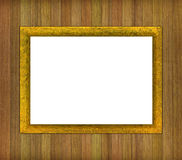 Framework for a picture. Framework for a picture against wooden boards Royalty Free Stock Images