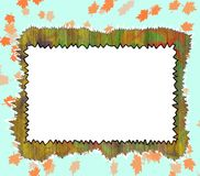 Framework for a picture. Framework for a picture on a wooden wall Royalty Free Stock Photos