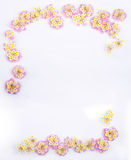 Framework of Pink Caprise Lantana flowers Stock Photography