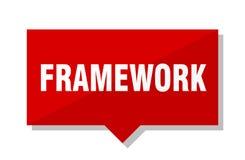 Framework price tag. Framework red square price tag Royalty Free Stock Photos