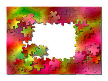 Framework from puzzle. Stock Images