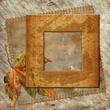 Framework in retro-style. Framework for design in retro-style photo. Album scrapbook Royalty Free Stock Images