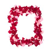 Framework from rose-petals Royalty Free Stock Image