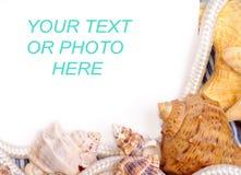 Framework on a sea background Stock Photos