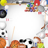 Framework of the sports Stock Image