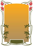 Framework in style art-nouveau Royalty Free Stock Images