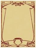Framework in style art-nouveau stock illustration