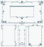 Framework in style art-nouveau Stock Images