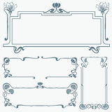 Framework in style art-nouveau Stock Photo