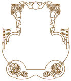 Framework in style art-nouveau Royalty Free Stock Photos